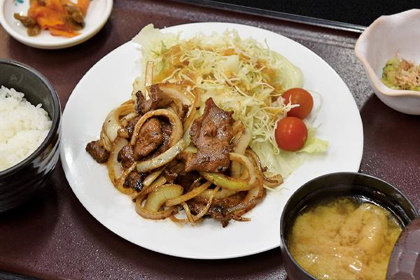 和食処 かじか亭 ジンギス定食(羊肉)