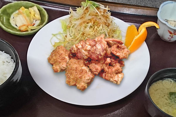 和食処 かじか亭 鶏唐揚げ定食