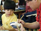 陶芸体験 陶器染付け