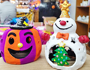 Monster Pumpkin Halloween Candle
