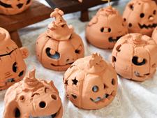 Monster Pumpkin Halloween Candle