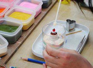 阿南町陶芸体験館 ジェルキャンドル作り 出張陶芸教室